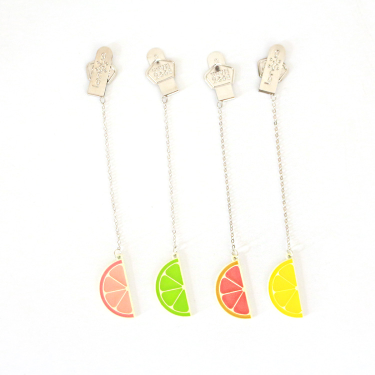 Half Refreshing Lemon Pendant Bookmark Stationery School Office Supply Escolar Papelaria