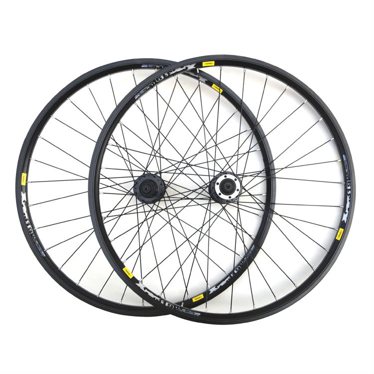 Mountain bicycle wheel (drum) + (fast dismounting) before and after the aluminum alloy rivet rim wheel group before the incal