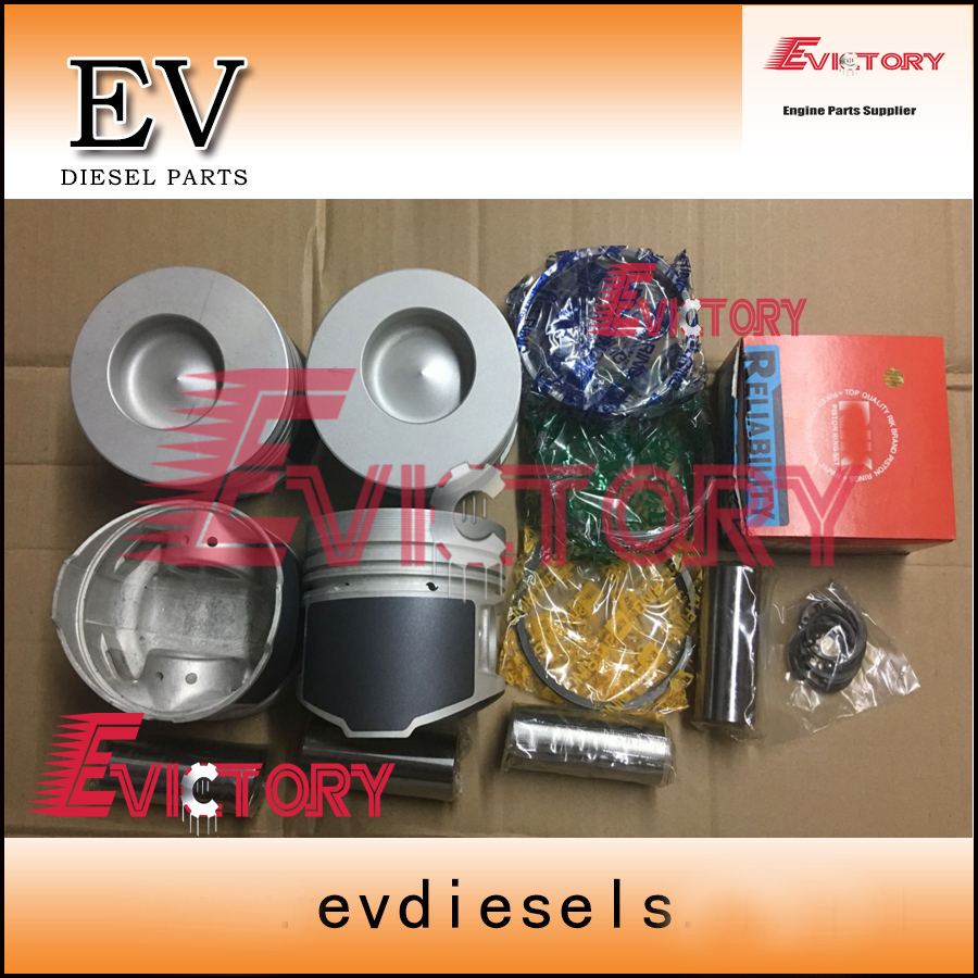 For Mitsubishi K4N Rebuild Kit Piston Ring + Piston Kit  Piston Pin For Excavator