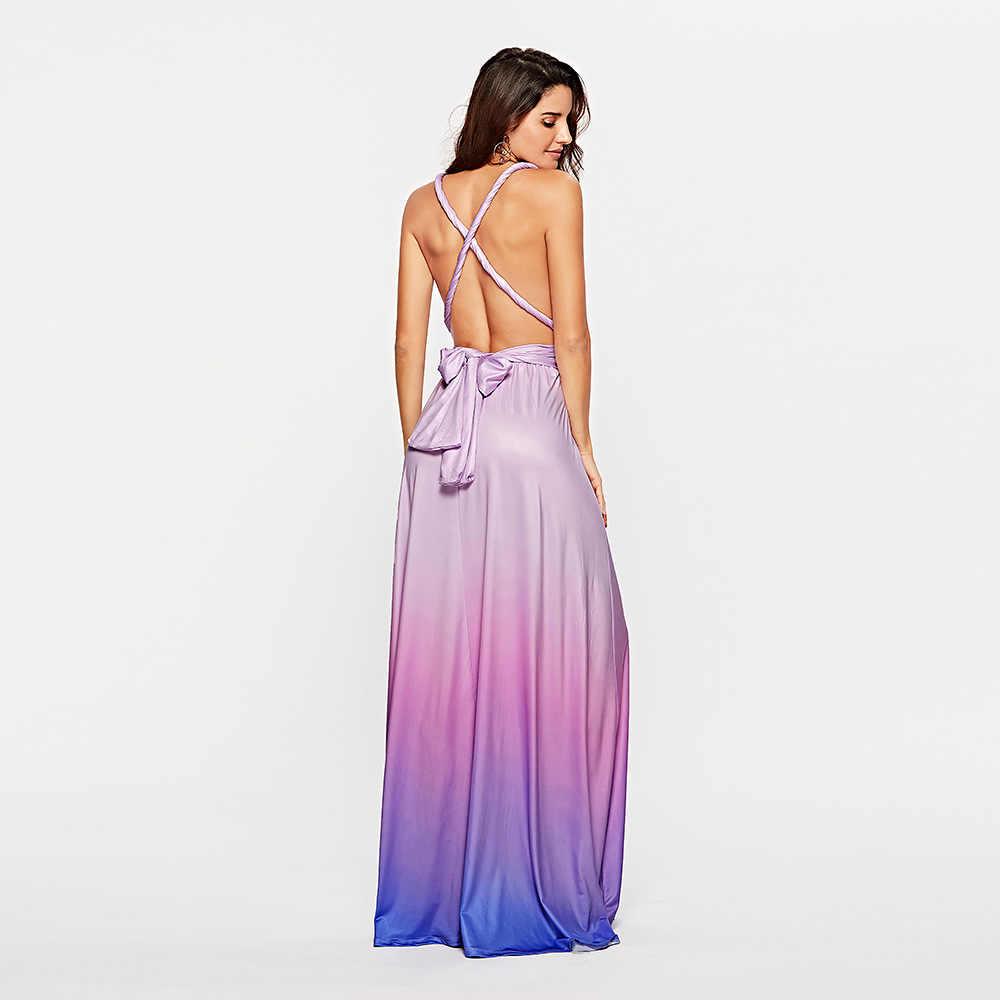 15 способов Бандажное женское летнее платье 2019 повседневное пикантное пляжное с открытой спиной макси платья элегантные вечерние длинные вечерние платья женские vestidos