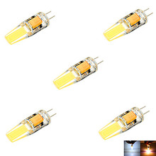 10pcs G4 3W 2COB LED Lamp corn led Mini Lampada Bulb High Power 360 Degree Replace Halogen Bi-pin Lights 12V