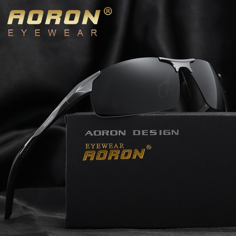 AORON Men S Brand Polarized Sunglasse Women Classic Design Police Sun Glasses HD Driving Accessories Night