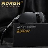 AORON Marca Maschio HD Polizia Occhiali Da Sole Polarizzati Sunglasse Uomo Classic HD Guida Accessori Night Driver Occhiali Oculos de sol