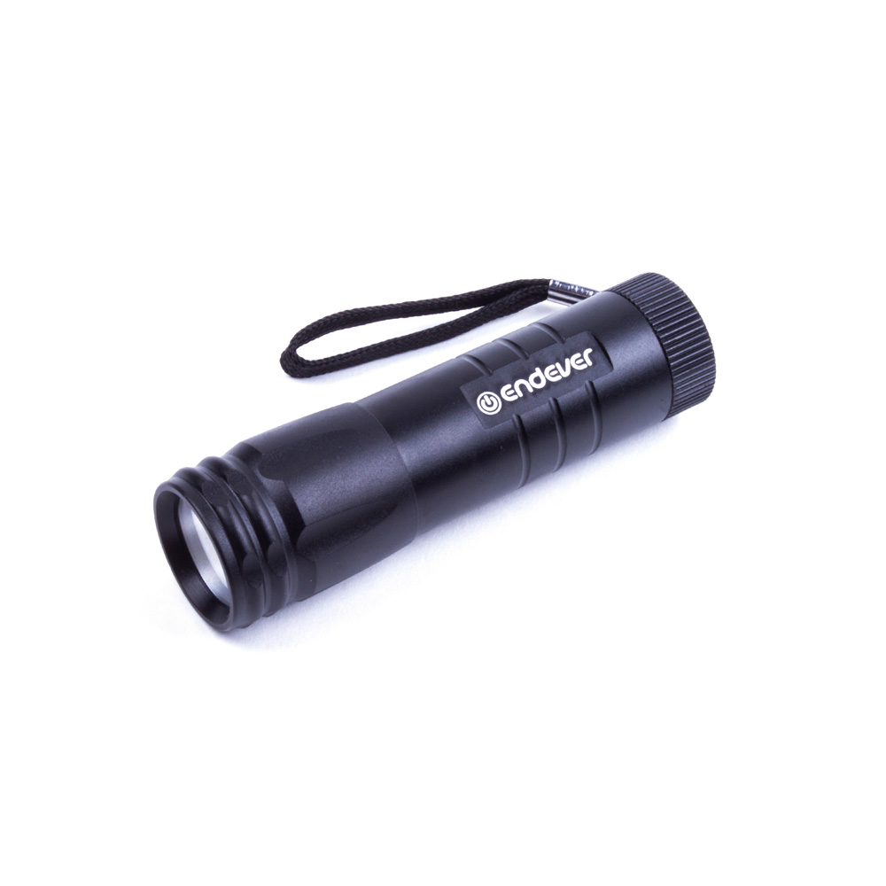 Flashlight pocket Endever Elight F-111 black 97101 zoom led flashlight 18650 rechargeable cree t6 high power police flashlight camping portable light cycling bicycle torch