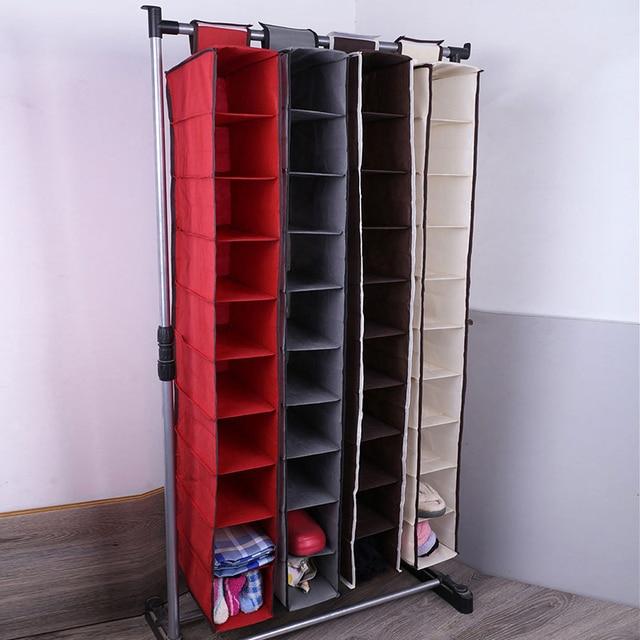 Новый складной 10 Слои Органайзер Многофункциональный висячий органайзер для гардероба домашний шкаф для хранения одежда носок нижнее бель...