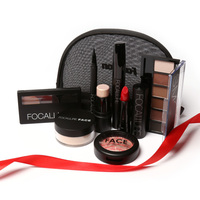 FOCALLURE Makup Tool Kit 8 PCS Make Up Cosmetics Including Eyeshadow Matte Lipstick With Makeup Bag
