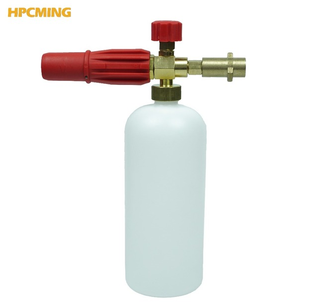 2018 For K series adapter New Brass Red Snow Foam Lance High Pressure Cleaner Car Washer High Quality (CW065)