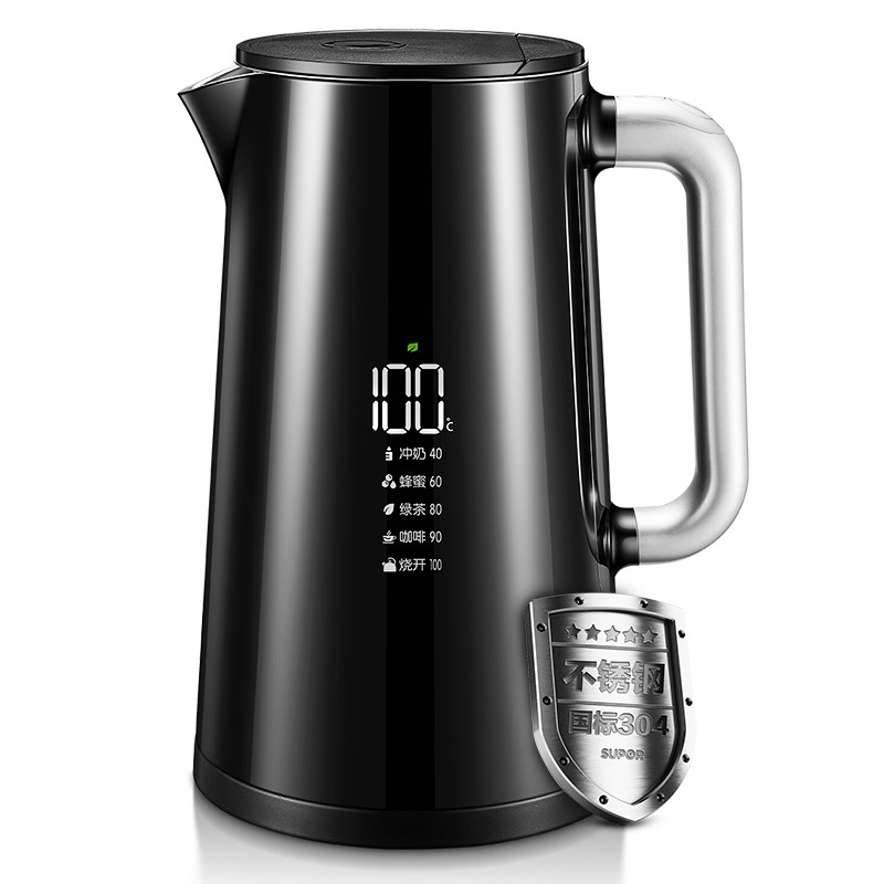 NEW Electric Kettle Household 304 Stainless Steel Temperature Control Dechlorination Double Decking