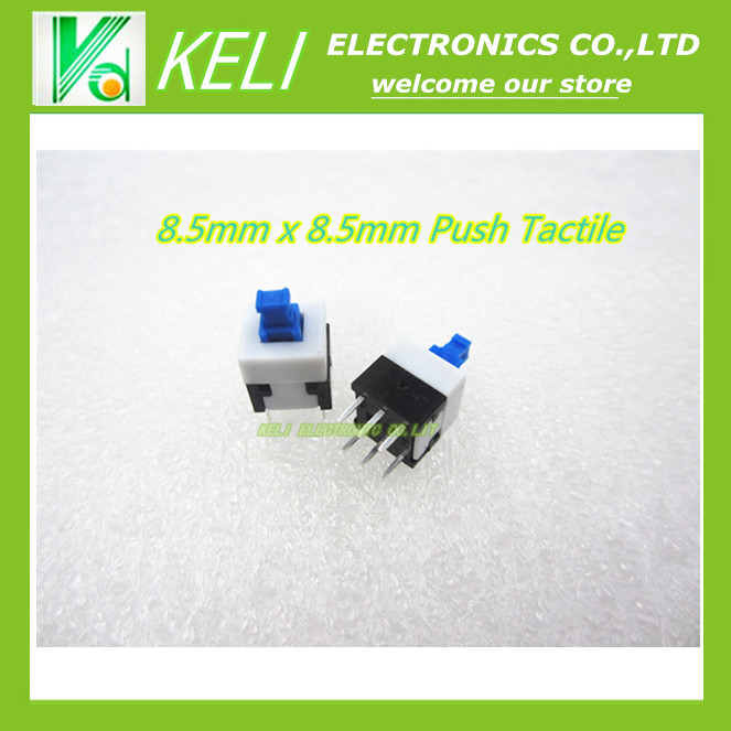 20pcs 50x 8 5mm x 8 5mm Push Tactile Power Micro Switch Self lock On