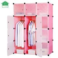 PRWMAN Furniture Clothes Wardrobe DIY Modular Shelving Simple Storage Organizing Closet Cube Design For Clothes Shoes
