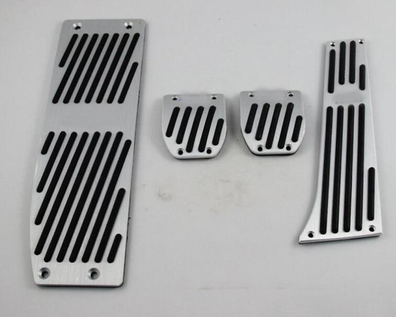 Alumínio Pé Resto Pedais Fit para BMW E30 E36 E46 E87 E90 E91 E92 E93 M3 MT Cor Prata