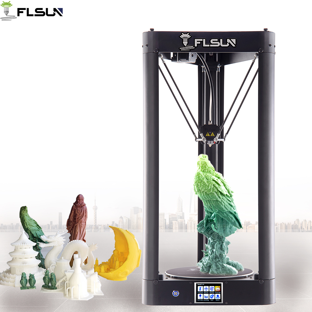 2019 NOUVEAU 3D Imprimante Flsun-QQ-S 95% Pré-assemblée Grande Impression Auto-nivellement 32 bits MKS Titan 3D Imprimante Wifi Puissance Reprendre
