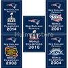 New England Patriots Flag 3X5FT 90x150cm 100 Polyester Digital Printing CUATOM World CHAMPIONS 2016 Banner