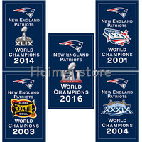 New England Patriots Flag 3X5FT 90x150cm 100 Polyester Digital Printing CUATOM World CHAMPIONS 2016 Banner