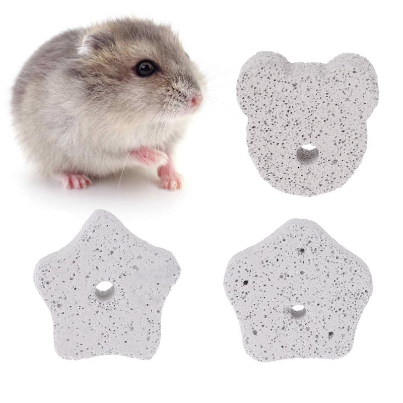 Hamster Squirrel Teeth Grinding Mineral Stone Chinchilla Rabbit Cage Accessories