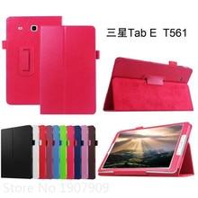 Cubierta del caso del soporte para samsung galaxy tab e 9.6 para galaxy tab e 9.6 t560 t561 tablet flip funda protectora para samsung tab e 9.6