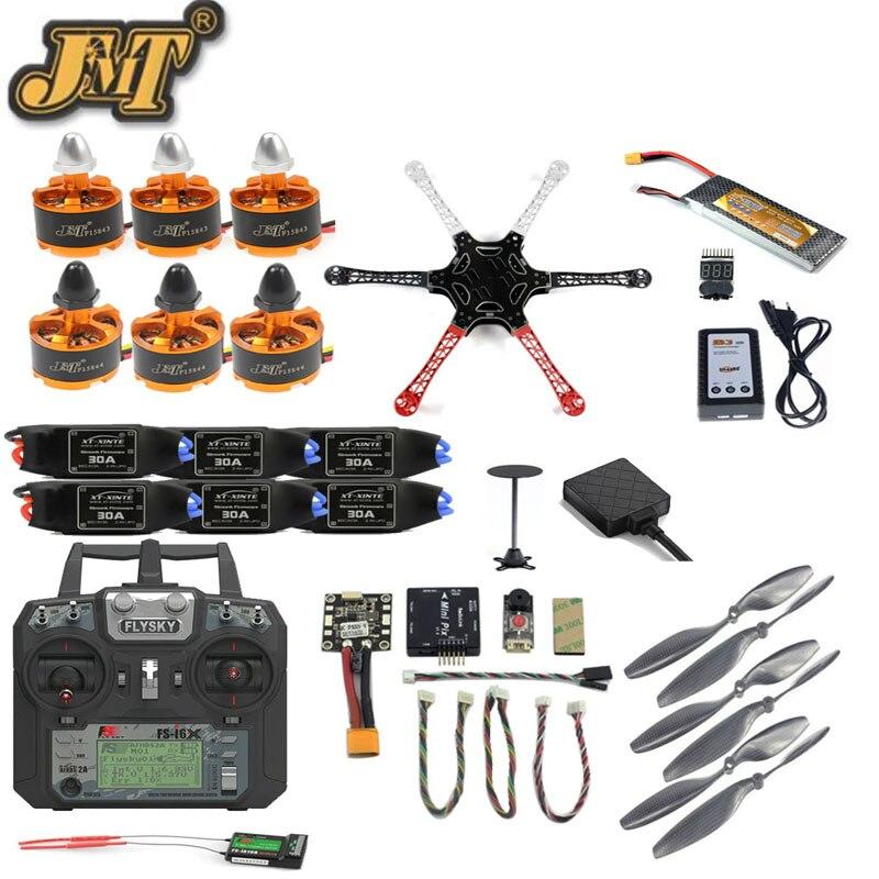 Set completo FAI DA TE Drone F550 Kit Telaio 2.4g 10CH Cotroller Telecomando Radiolink PIX M8N GPS PIXHAWK il Mantenimento di Quota FPV aggiornamento Hexacopter