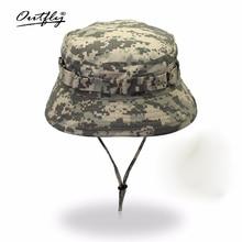 Outfly דיגיטלי הסוואה צבא כובע חיצוני קמפינג גברים קצר bri כובע סיטונאי קרם הגנה ביונית ג ונגל כובע דלי כובע