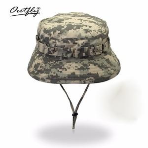 Image 1 - Outfly 디지털 위장 육군 모자 야외 캠핑 남자 짧은 브림 모자 도매 들어 갔어 바이오닉 정글 모자 양동이 모자