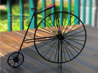 Class kid children toys Vintage Style Retro Bicycle Model Dark Red Home coffee shop Decoration The World's first Bicyclye
