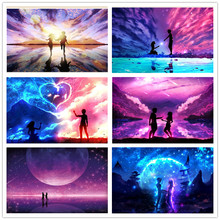 Full Circle Diamond 5D DIY Painting Starry Sky 3D Embroidery Cross-stitch Mosaic Rhinestone Decoration