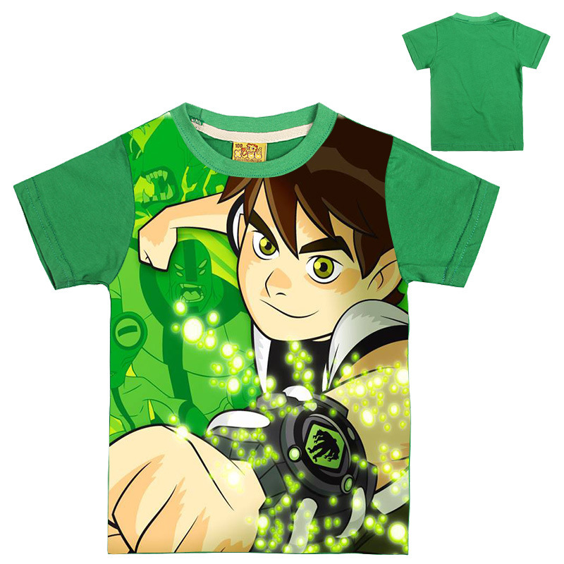 2-8Years 2017 Summer Tops Ben 10 Costumes Boys T Shirt Short Sleeves Boys T-shirts Tops Sets Sportwear Outfits Cartoon Kids 7016 black hollow out round neck short sleeves t shirt
