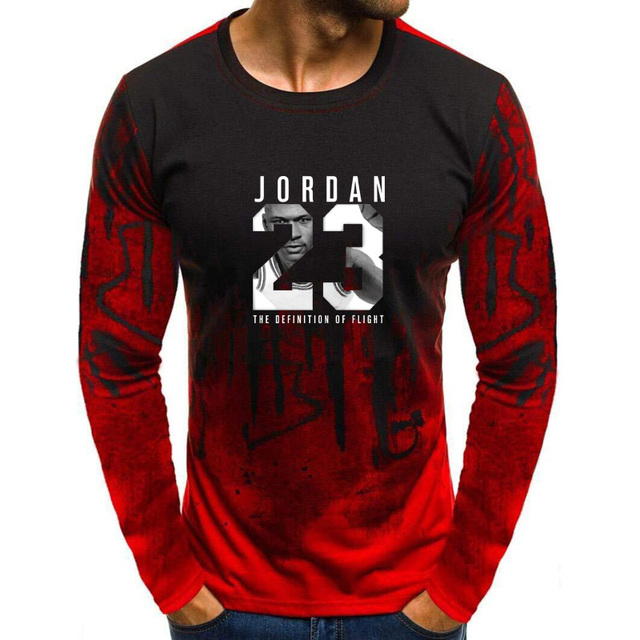 7c1610ae48d3 2018 Hot Sale New Tee Jordan 23 Print Men Swag T-Shirt Top Quality  Camouflage Jordan 23 Hip Hop Long sleeve Men t