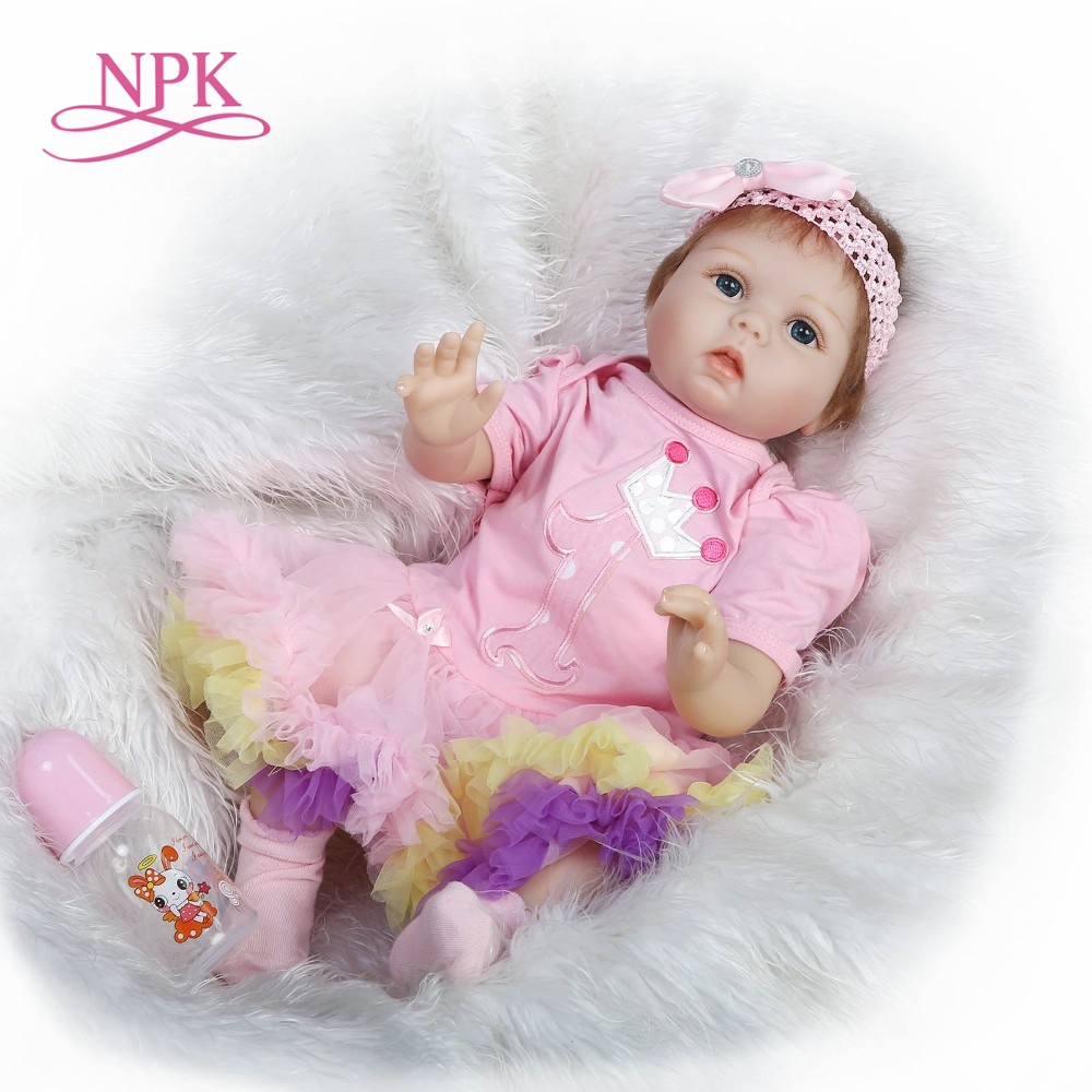 NPK 2018 New Arrival 22 inch 55cm Silicone baby Reborn Vinyl Doll Bebe Reborn Babies Toys for child Juguetes Brinquedos