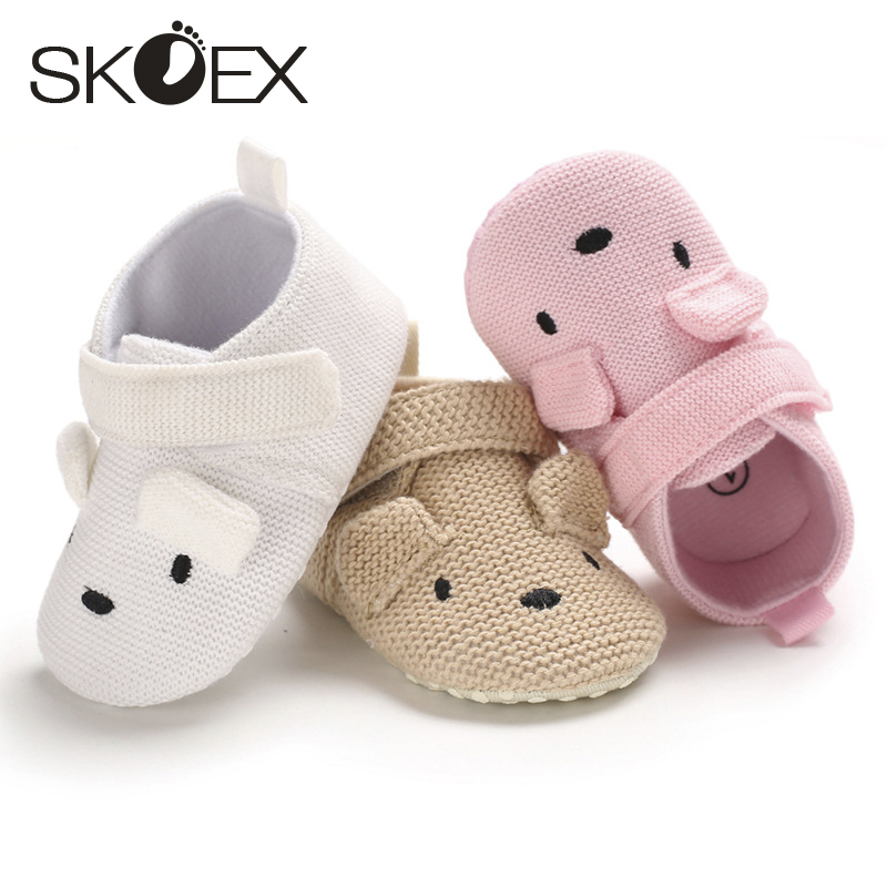SKOEX 2020 Fashion 0-1 Year Old Male Baby Cute Cartoon Soft Sole Shoes Female Baby Comfortable Non-slip Toddler Shoes Baby Shoes