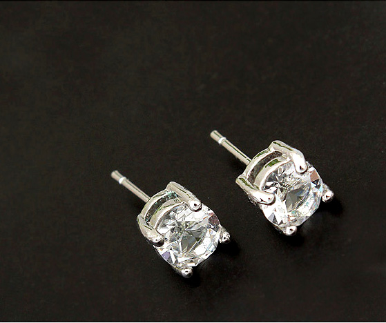 White Gold Color 4 Gs 6mm Sparkling Genuine Crystals From Swarovski Stud Earrings Fashion Jewelry In Accessories On
