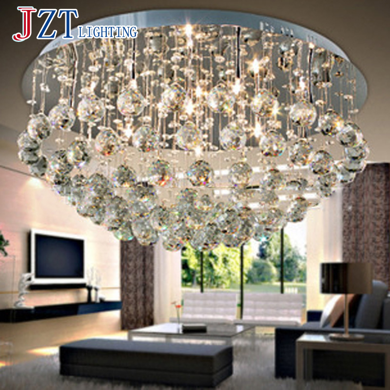 T Luxury Simple Circular Crystal Ceiling Light Fashion Modern Lamps For Bedroom Living Room LED Home Lighting Dhl Free