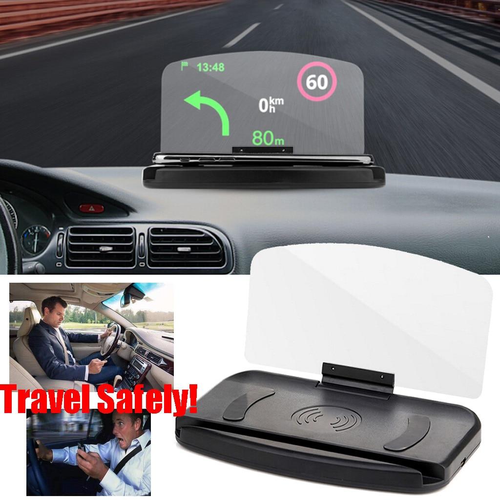 YATERKU HUD Display Mirror Universal Car HUD Head Up Navigation Display Phone Holder GPS Projector Car GPS Holder#620y35