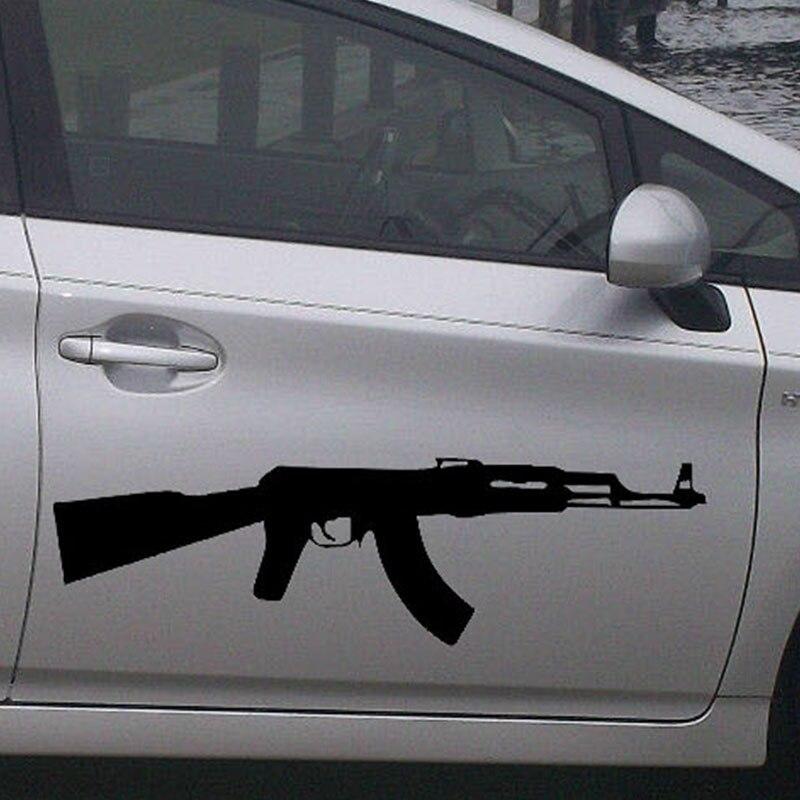length:70cm Ak-47 Kalashnikov Classic Car Sticker For Cars Side, Truck Window ,Auto SUV Door Kayak Vinyl Decal 8 Colors