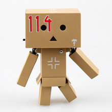 Mini 114 Chariot models Danboard Doll Danbo PVC Animation Figure Can be bright 8cm with box Action & Toy Figures PY095