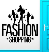 Wall Stickers Vinyl Decal Fashion Shopping Discounts Holiday Sale Girl