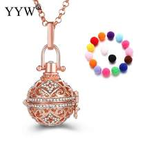 2017 New Essential Oil Diffuser Necklace Locket Pendant Necklace Diffuser Pendant  Rolo Chain for Woman Parfum Women Perfume 53a224161193