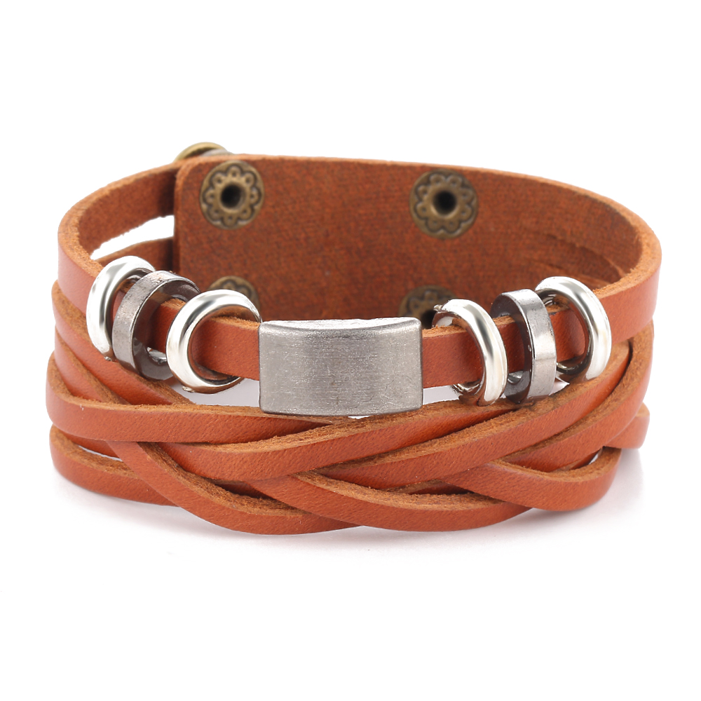 IF ME Nye enkle lær armbånd menn smykker mote wrap armbånd - Mote smykker - Bilde 6