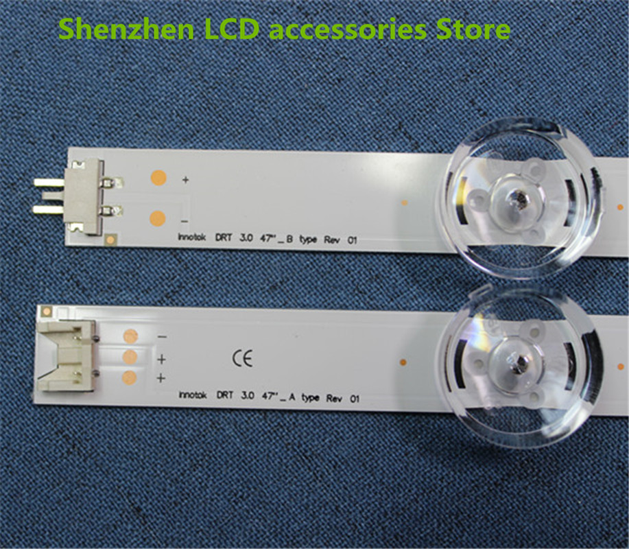 8pcs X LED Backlight Strip 9-leds For LG 47 Inch TV Innotek DRT 3.0 LG47lb5610 6916L 1715A 1716A LG47LY340C LG47GB651C  100%NEW