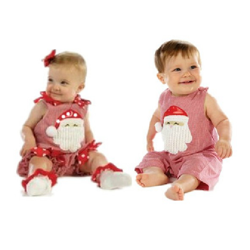 New 2016 Christmas Costumes Baby Girl Boy Cotton Romper Summer Jumpsuit Kids Overalls Newborn Infant Clothes Bebe Clothing Wear red ladybug warm rompers winter bebe jumpsuit baby animal costumes wear newborn baby girl romper baby clothes infant clothing