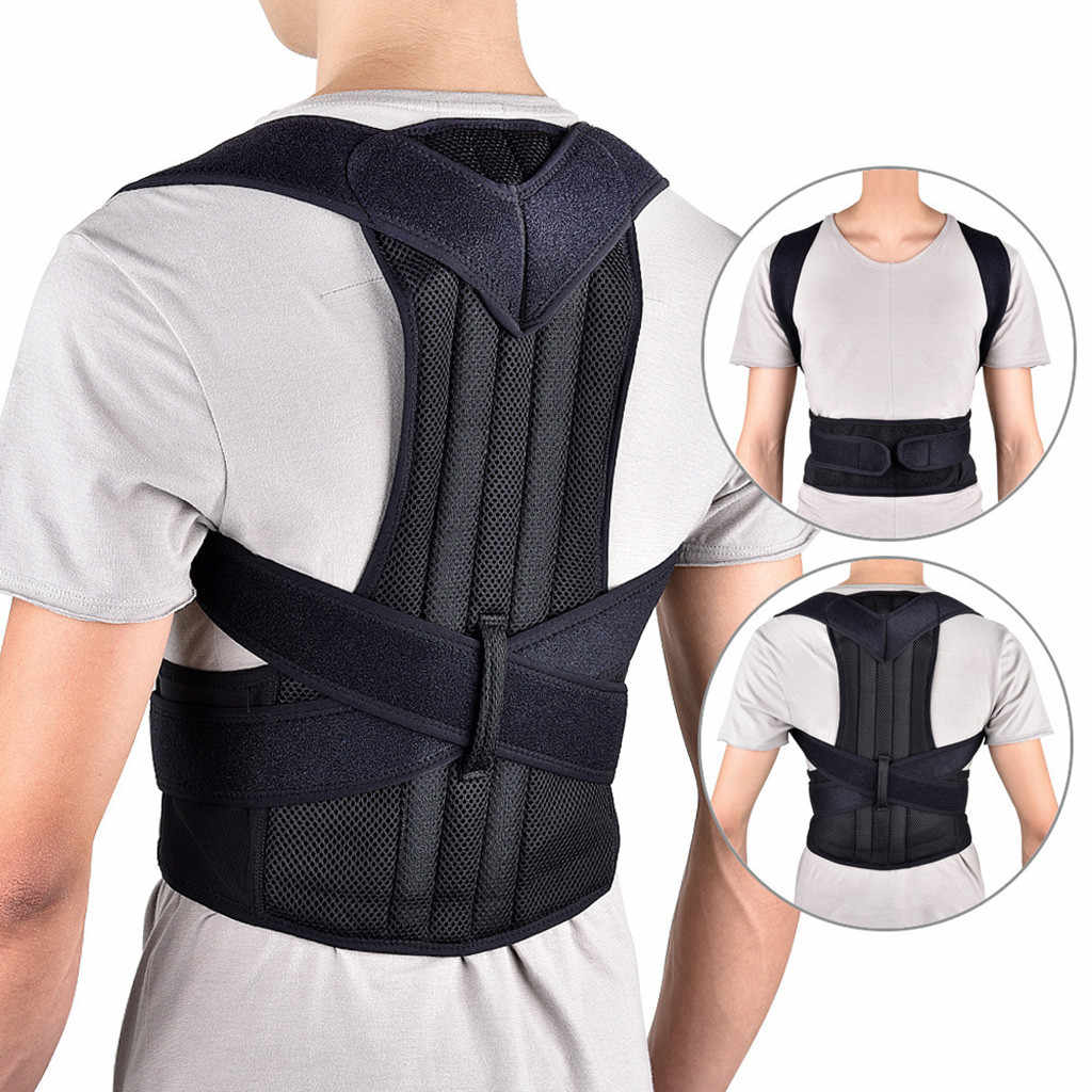 Back Posture Magnetic Shoulder Corrector Support Brace Belt Therapy Men Women Shoulder Back Support Belt sports safety