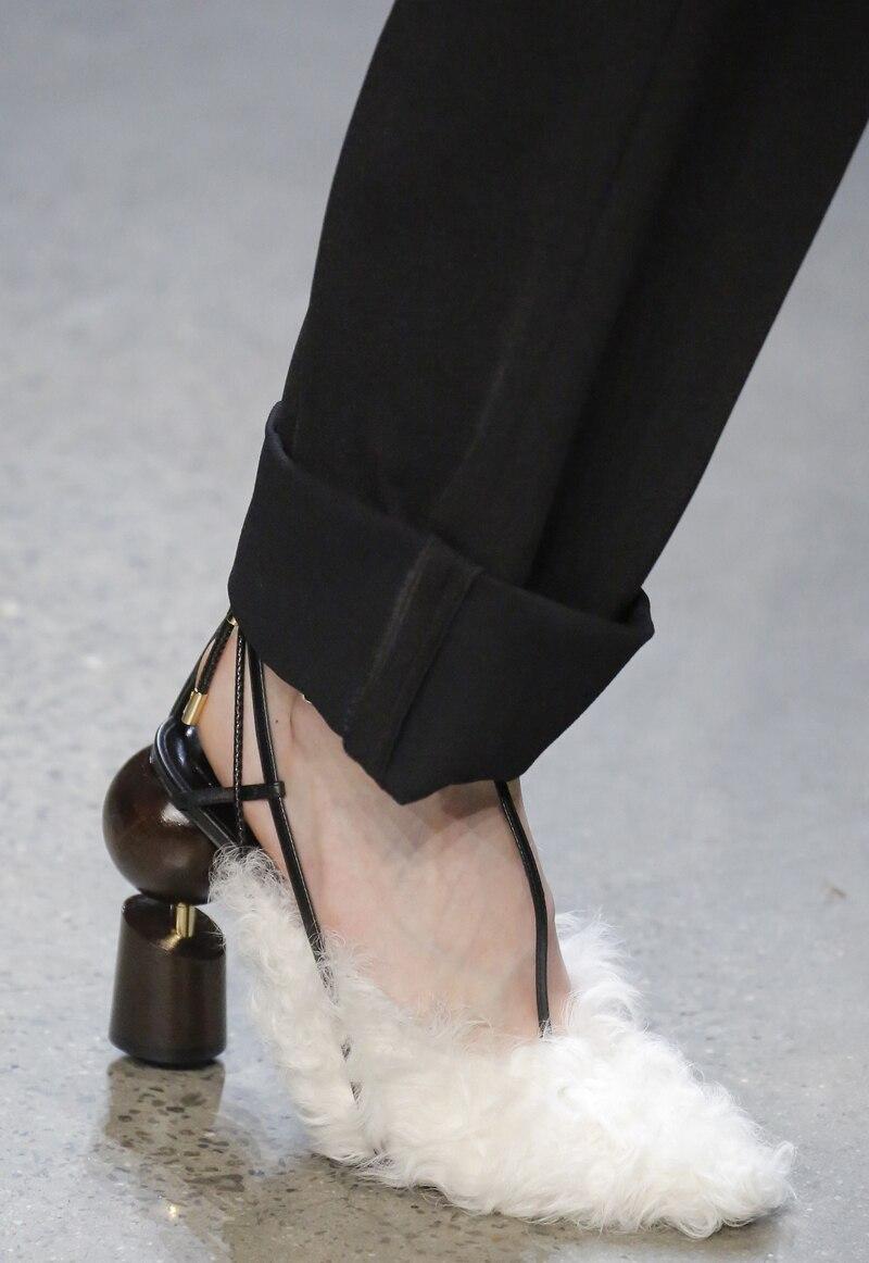 Pompes as Parti As 2019 Chaussure À Pic Bout Chaussures Robe Sexy Femme La Lacets Étrange Pointu Femmes Talo Bride Pic Cheville Piste Talon xH1HIZ
