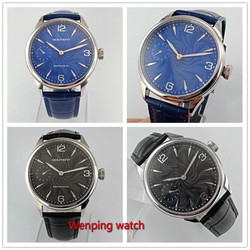 Goutent 42mm 6497 Manual refining machinery Wrist watches  Brand blue black Sterile dial watch W2717
