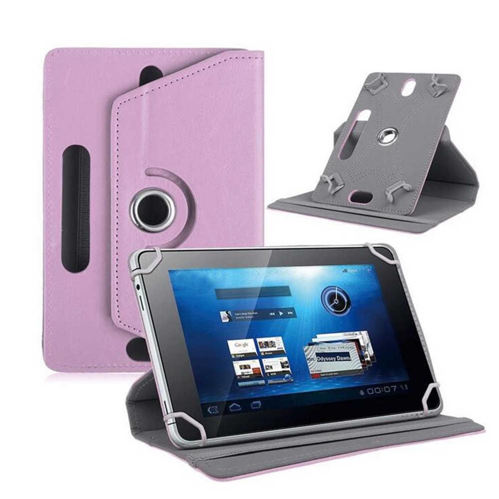 Gran venta 360 grados 7/8/9/10 pulgadas Universal tableta Flip Funda de cuero de imitación