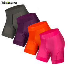 Weimostar High Quality Cycling Shorts Women 4D Gel Padded Mountain Bike Shorts Outdoor Sport Tight Riding mtb Bicycle Shorts цена 2017