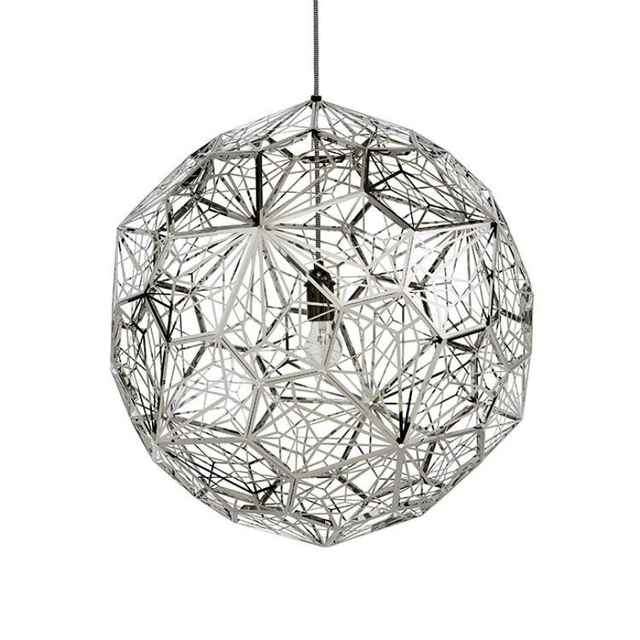 Cm Modern Silver Etch Web Pendant Lights Stainless Steel Lampshade - Silver kitchen light fixtures