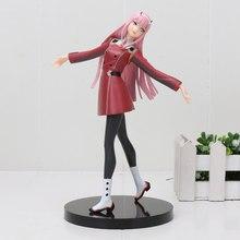 21cm anime darling no franxx zero dois código: 002 pvc figura de ação brinquedos modelo