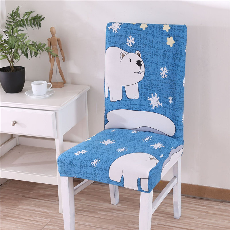 Removable Elastic Home Kitchen Dining Chair Cover Cartoon Printed Kids Favourite Seat Cover Slipcovers Stretch Chair Cover Case