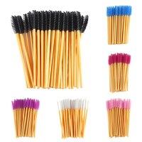 50Pcs Disposable Eyelash Brushes Eyelash Extension Makeup Mascara Wand Applicator Brushes Eyelash Cosmetic Brush Makeup Tool Kit False Eyelashes