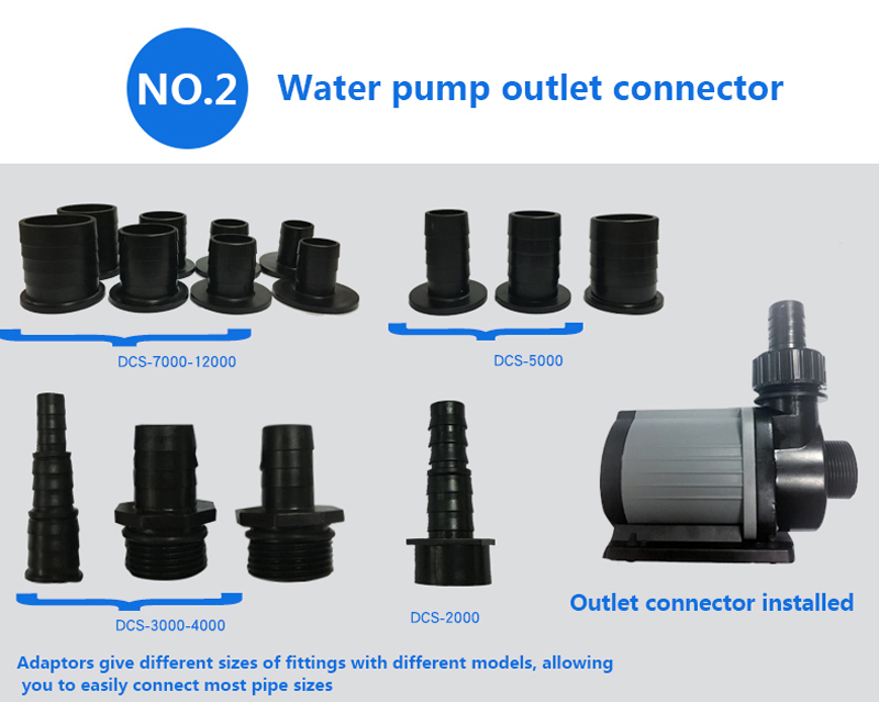 Jebao DCS series water pump Variable flow DC aquarium pump submerge pump Marine freshwater controllable pump Fish tank quiet (6)