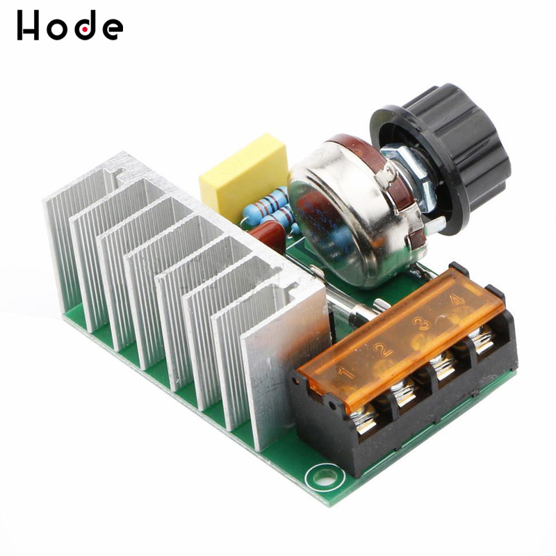 4000W AC <font><b>220V</b></font> SCR <font><b>Voltage</b></font> <font><b>Regulator</b></font> Mayitr Adjustable Power Supply Board Speed Control Dimmer for Electric Iron image